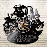 Studio Ghibli Vinyl Clock Wall Decor Handmade