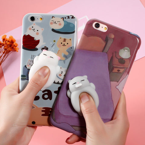 Cute 3D Soft Squishy Silicone Animal Phone Cases