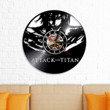 Attack on Titan Vinyl Record Wall Clock Handmade