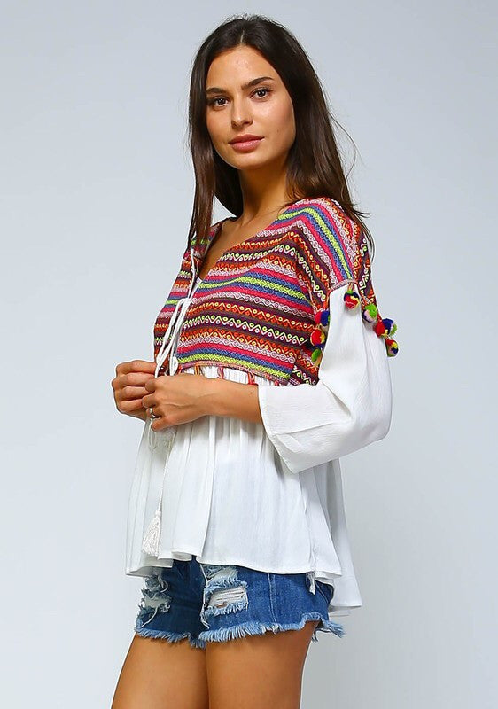 Boho Embroidered Jacket/Top