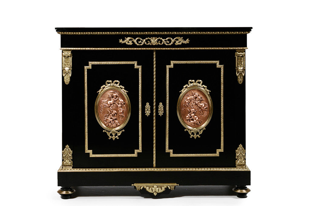 A SUPERB 19th CENTURY FRENCH SIDE CABINET SIGNED LEON BERTAUX - REF No. 4006