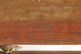 A FREESTANDING BOOKCASE STAMPED WILLIAMS & GIBTON OF DUBLIN - REF No. 4026