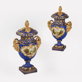 A MAGNIFICENT PAIR OF COALPORT VASES - REF No. 169