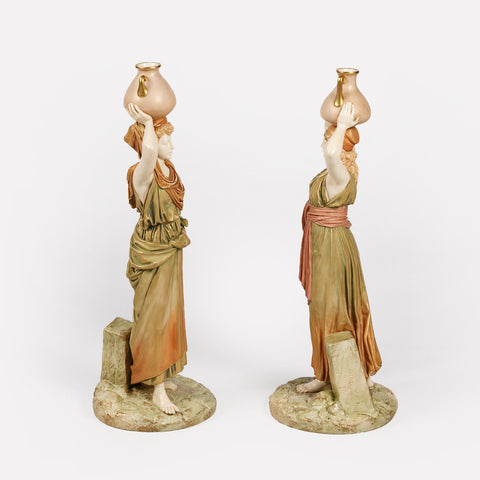 A MAGNIFICENT PAIR OF ROYAL WORCESTER FIGURES OF MOORISH SLAVES -REF No. 170