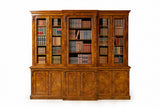 A MAGNIFICENT QUALITY 19TH CENTURY BREAKFRONT BOOKCASE - REF No. 4030