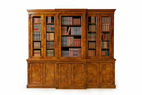 AN IMPORTANT GEORGE III BREAKFRONT BOOKCASE ATTRIBUTED TO GILLOWS - REF No. 4005