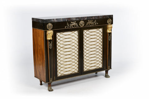 A VERY FINE REGENCY SIDE CABINET - REF No. 4033