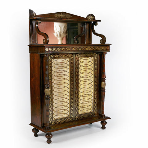 AN EXCEPTIONAL REGENCY CHIFFONIER IN THE MANNER OF GEORGE BULLOCK - REF No. 4029