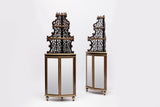 A VERY FINE PAIR OF 19TH CENTURY ROSEWOOD CORNER CABINETS - REF No. 4018