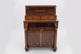 A MAGNIFICENT PAIR OF REGENCY ROSEWOOD SECRETAIRE CHIFFONIERS - REF No. 4008