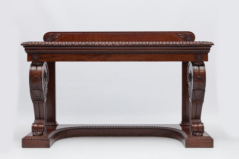A SUPERB WILLIAM IV PLUM MAHOGANY SIDE TABLE - REF No. 5001