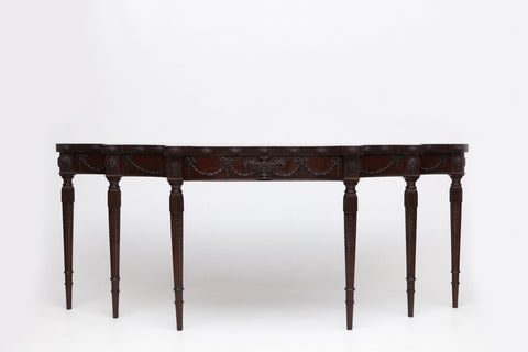 AN EXCEPTIONAL PAIR OF REGENCY MAHOGANY CONSOLE TABLES ATTRIBUTED TO MACK, WILLIAMS & GIBTON - REF No. 9053