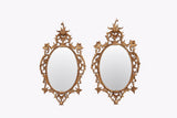 A SUPERB PAIR LATE 19TH CENTURY OVAL CARVED GILT-WOOD MIRRORS - REF No. 6003