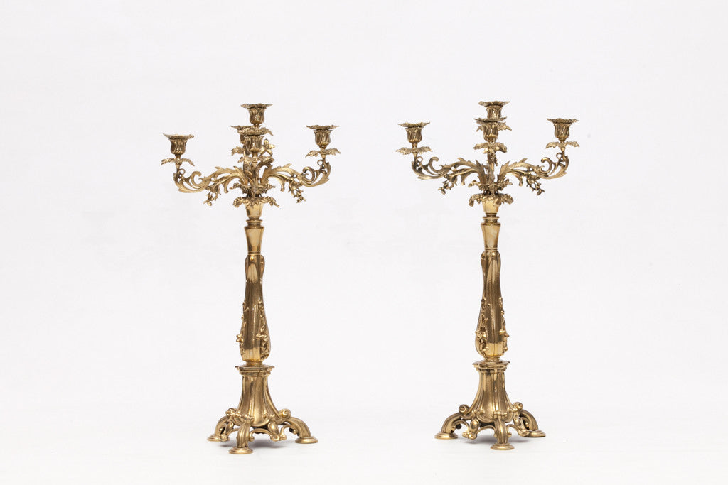 A PAIR OF LATE 19TH CENTURY CANDELABRA - REF No. 1012