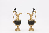 A MAGNIFICENT PAIR OF 19TH CENTURY ORMOLU & BRONZE EWERS - REF No. 1013