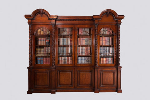 A SUPERB WILLIAM IV 4 DOOR  MAHOGANY BOOKCASE - REF No. 4003