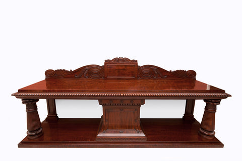 AN EXCEPTIONAL IRISH GEORGE IV MAHOGANY SERVING TABLE ATTRIBUTED TO MACK WILLIAMS AND GIBTON - REF No. 5003