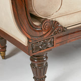 A STUNNING GEORGE IV ROSEWOOD SETTEE - REF No. 8011