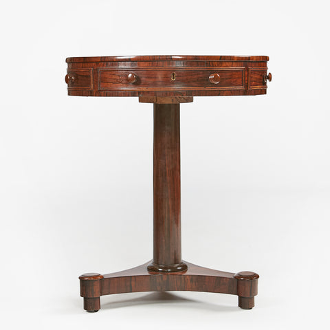 A VERY FINE REGENCY COMPACT ROSEWOOD DRUM TABLE - REF No. 9055