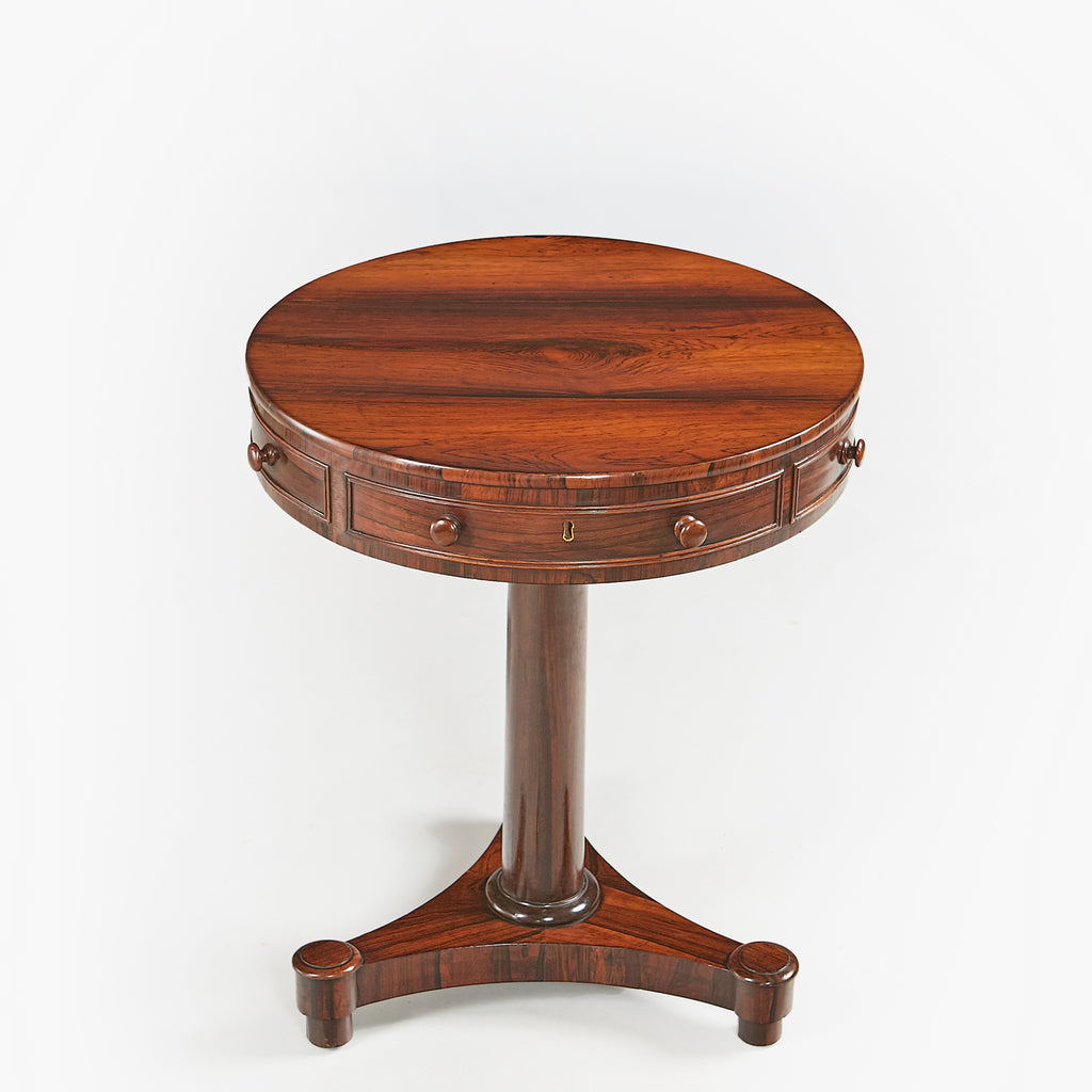 A STUNNING WILLIAM IV COMPACT ROSEWOOD DRUM TABLE - REF No. 9055