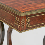 A SUPERB REGENCY ROSEWOOD SIDE TABLE - REF No. 9057