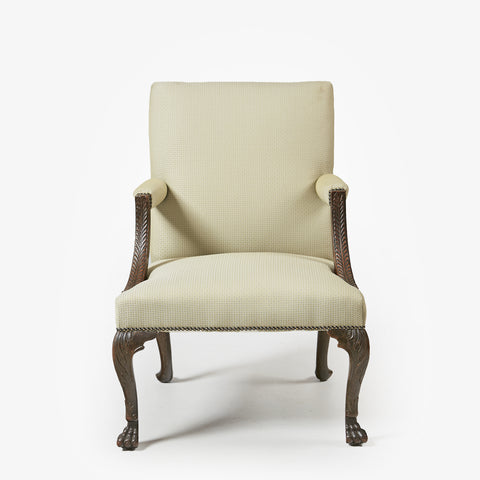 A VERY FINE GEORGE III GAINSBOROUGH ARMCHAIR - REF No. 8012