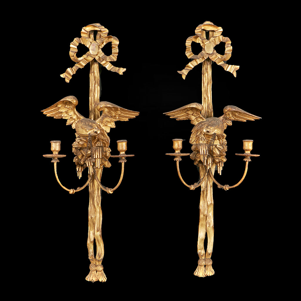 A SUPERB PAIR OF EARLY 19TH CENTURY SCONCES - REF No. 1023