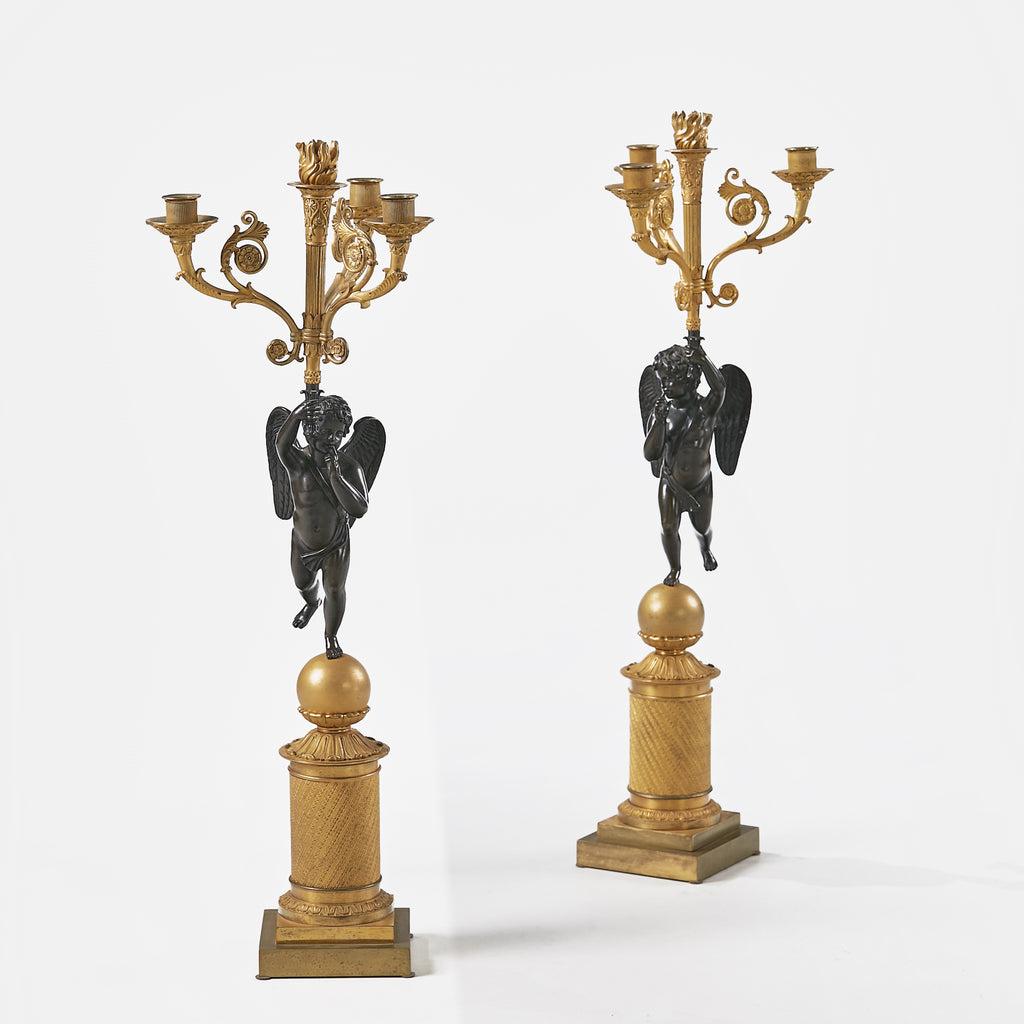 A STUNNING PAIR OF EARLY 19TH CENTURY CANDELABRA - REF No. 1024