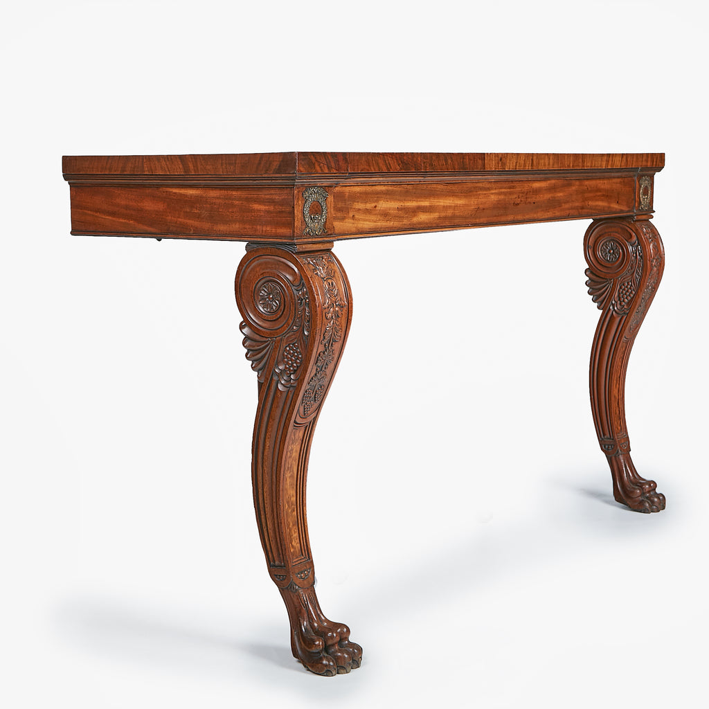 A SUPERB IRISH REGENCY CONSOLE TABLE - REF No. 5005