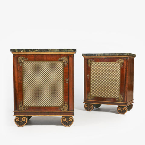 AN EXCEPTIONAL PAIR OF REGENCY SIDE CABINETS IN THE MANNER OF GEORGE BULLOCK - REF No. 4040