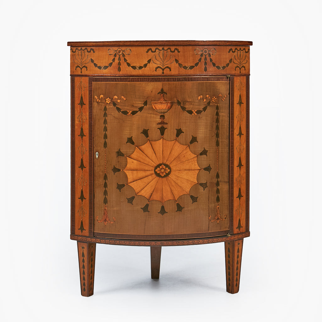 A MAGNIFICENT CORNER CABINET BY JAMES HICKS - REF No. 4040
