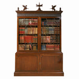 A STUNNING REGENCY MAHOGANY TWO DOOR BOOKCASE - REF No. 4031