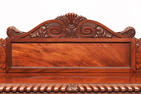 A SUPERB REGENCY MAHOGANY PEDESTAL SIDEBOARD ATTRIBUTED TO WILLIAMS  & GIBTON - REF No. 5005