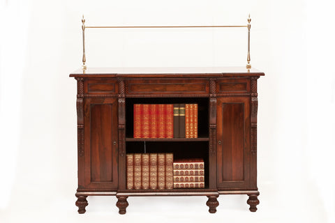 A FINE 19TH CENTURY ROSEWOOD FLOOR BOOKCASE IN THE MANNER OF GILLOWS - REF No. 4022