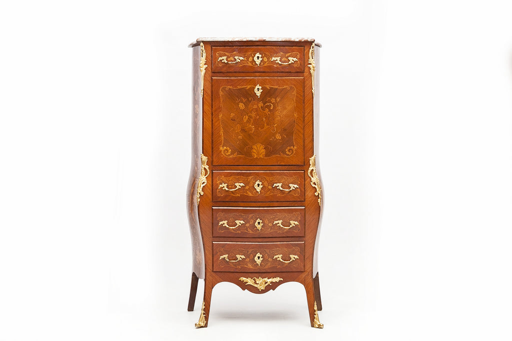 A GOOD 19TH CENTURY KINGWOOD & ORMOLU SECRETAIRE COMMODE - REF No. 3006