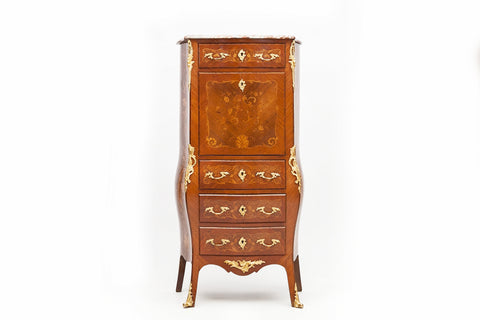 AN EXCEPTIONAL 19TH CENTURY LOUIS XV STYLE BOULLE  LADIES BOMBE BUREAU - REF No. 3003