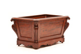A GOOD GEORGE IV MAHOGANY WINE COOLER - REF No. 161