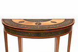 A FINE PAIR OF GEORGE III DEMI LUNE PIER TABLES - REF No. 9052