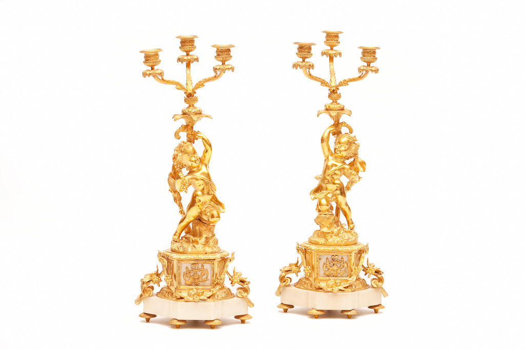 A STUNNING PAIR OF 19TH CENTURY CANDELABRA - REF No. 1019