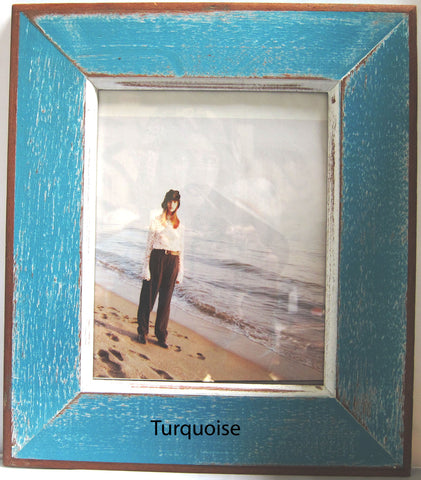 HN006 Turquoise // Single Bordered Picture Frame (8x10)
