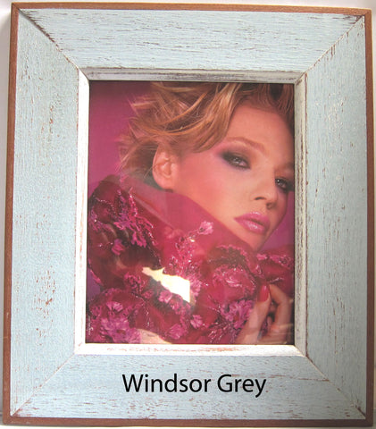 HN006 Windsor Blue grey // Single Bordered Picture Frame (8x10)