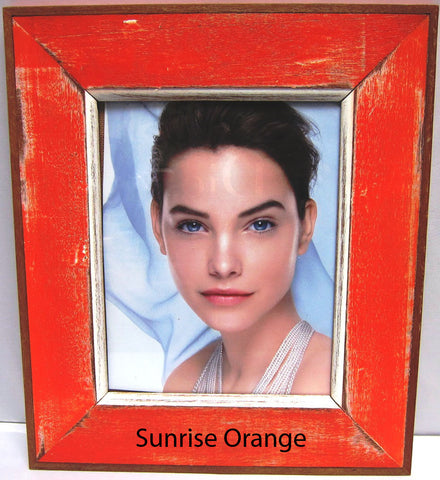 HN006 Sunrise Orange // Single Bordered Picture Frame (8x10)