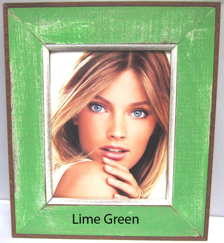HN006 Lime Green // Single Bordered Picture Frame (8x10)