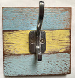1 Hook Yellow/Blue // Shabby Single Coat and Hat hook