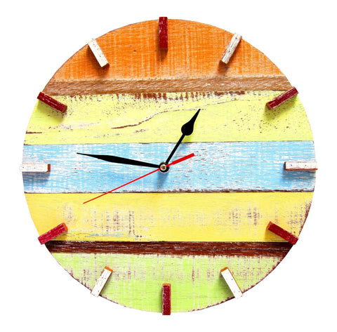 SN 347 // Autumn Recycled Boat Wood Beach House Clock (New Release!!)