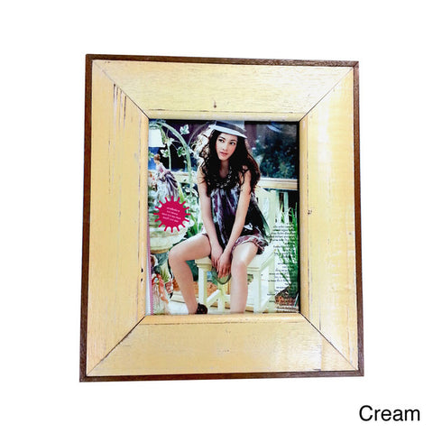 HN006 Cream // Single Bordered Picture Frame (8x10)