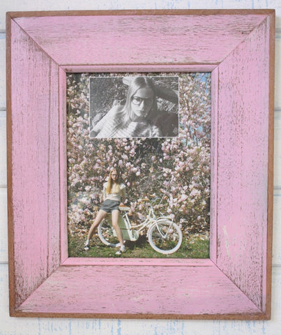 HN006 PINK // Single Bordered Picture Frame (8x10)