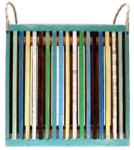 FN004 // Recycled Wood Magazine Rack with Rope Holders