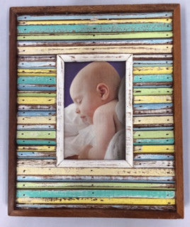 PF12-146 // Wood Slats Picture Frame 4x6