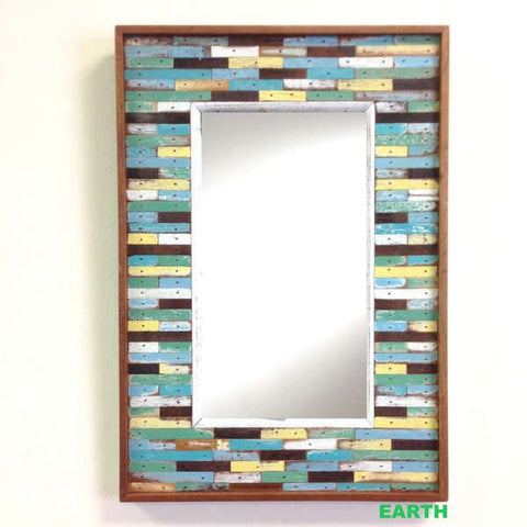 PF3-034 Earth // Mid Size Jigsaw Mirror